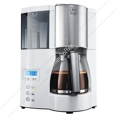 How To Use Optima Coffee Maker : Melitta Optima Timer Filter Coffee Machine - White eBay