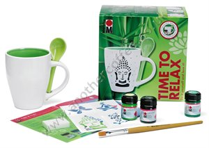 Marabu Paint-Your-Own Mug Set - Time To Relax