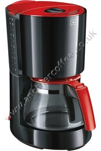 Melitta Enjoy Glass Filter Coffee Maker - Black and Red