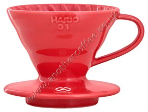 Hario V60 Porcelain Coffee Dripper Size 01 - Red