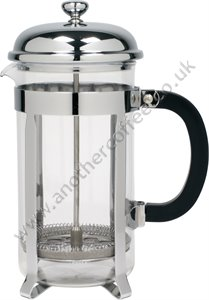 Traditional Cafetiere 8 Cup - Glass/Chrome