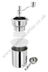 Stellar SM97 Stainless Steel Manual Coffee Grinder - Polished