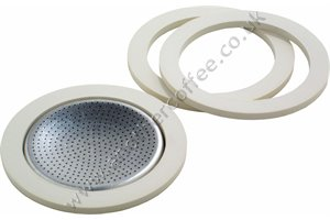 Bialetti Washer & Filter Set For Aluminium 3 Cup Moka Pots