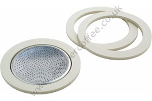 Bialetti Washer & Filter Set For Aluminium 6 Cup Moka Pots