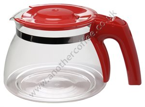 Melitta Glass Jug & Lid For Melitta Enjoy - Red