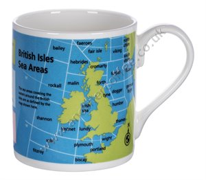 Bone China Mug: Sea Areas Of The British Isles