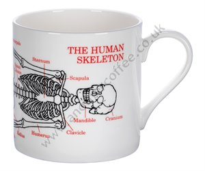 Large Bone China Mug: Skeleton