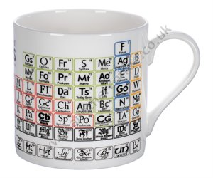 Large Bone China Mug: Periodic Table Of Typefaces