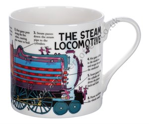 Large Bone China Mug: Steam Locomotive