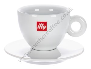 Illy Logo Cappuccino Cup & Saucer