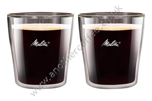 Melitta Espresso Glass - Set of Two - Double Walled Glass
