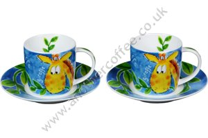 Jungle Animal Cups & Saucers - Giraffe (Set of 2)
