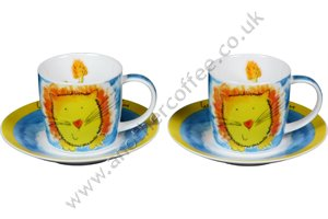 Jungle Animal Cups & Saucers - Lion (Set of 2)
