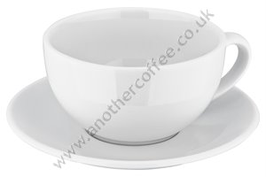 Judge Porcelain Cappuccino Cup & Saucer - White