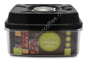 Pump Fresh Vacuum Canister 1600ml - Black & Stainless Steel