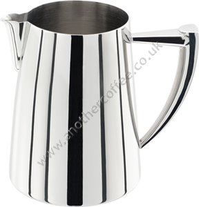 Stainless Steel Art Deco Jug 0.6 Litre - Polished
