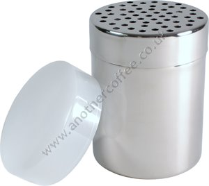Stainless Steel Chocolate Shaker With Large Holes - Polished