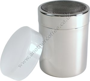 Stainless Steel Chocolate Shaker With Mesh Top - Polished