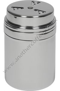 Stainless Steel Chocolate Shaker With 3 Way Adjustable Top - Polished