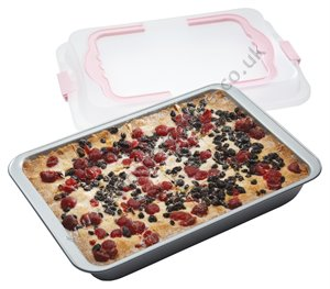 Sweetly Does It Rectangular Non-Stick Baking Tray & Carrier