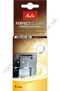 Melitta Perfect Clean Cleaning Tablets (Pack of 4 tablets)
