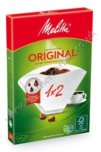Melitta Filter Papers - Size 1x2 (Box of 40)