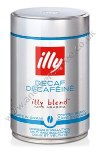 Illy Decaffeinated Coffee Beans (12 x 250g tins)