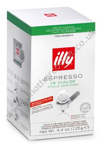 Illy ESE Decaf Coffee Pods (18 individually wrapped coffee pods)