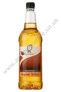 Sweetbird Coffee Flavouring Syrup: English Toffee (1 litre bottle)